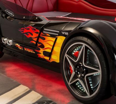 Кровать-машина GTS черная Carbed 1352-3