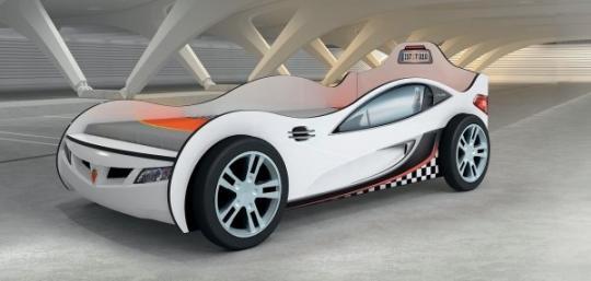 Кровать-машина Coupe белая Carbed 1308-1