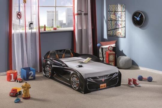 Кровать-машина Spyder черная Carbed 1306-2