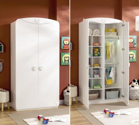 Шкаф двухдверый Baby Cotton 1001-1
