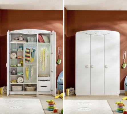 Шкаф трехдверный Baby Cotton 1002-2