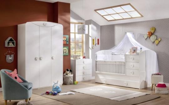 Шкаф трехдверный Baby Cotton 1002-3