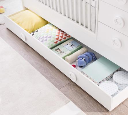 Кровать-трансформер (80х131/80х177) Baby Cotton 1015-1