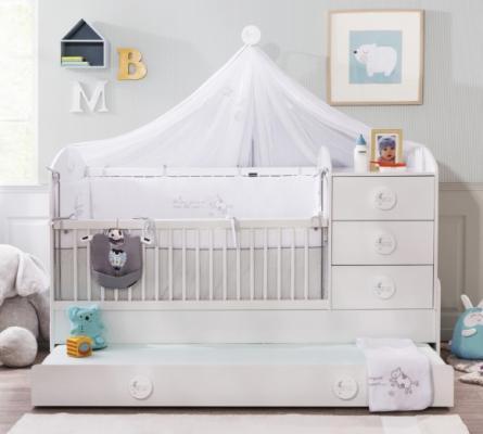 Кровать-трансформер (80х131/80х177) Baby Cotton 1015-2