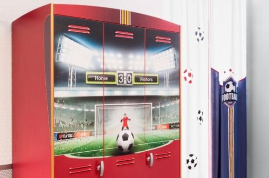 Шкаф трехдверный Football 1002.01-3