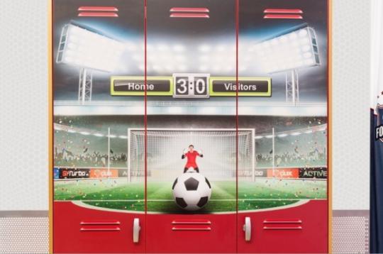 Шкаф трехдверный Football 1002.01-4