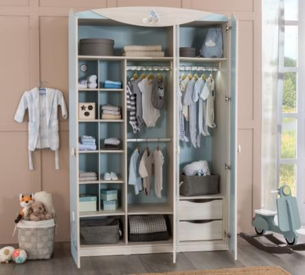 Шкаф трехдверный Baby Boy 1002-1