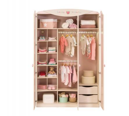 Шкаф трехдверный Baby Girl 1002-1