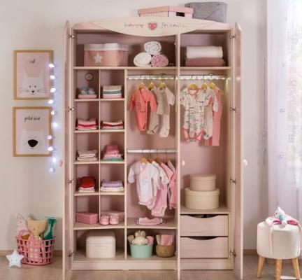 Шкаф трехдверный Baby Girl 1002-2