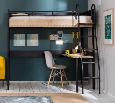 Кровать-чердак со столом Black 1402 Compact -3