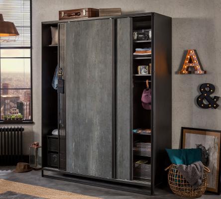 Шкаф большой, со сдвижными дверями Dark Metal 1003-1