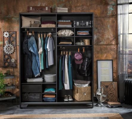 Шкаф большой, со сдвижными дверями Dark Metal 1003-2