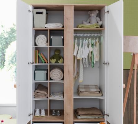 Шкаф двухдверный Natura Baby 1001.01-1
