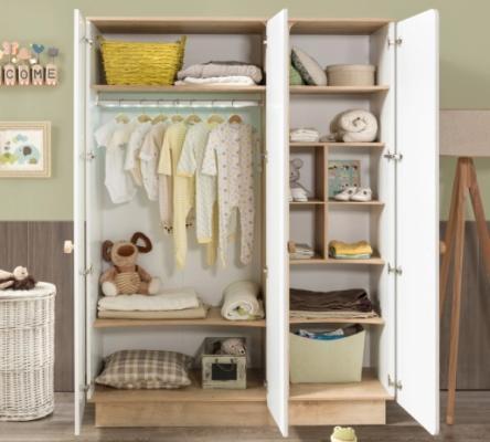 Шкаф трехдверный Natura Baby 1002.00-1