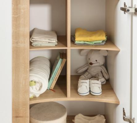 Шкаф трехдверный Natura Baby 1002.00-2