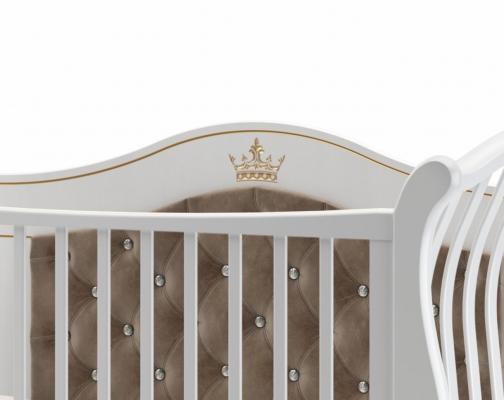 Детская кроватка на колесах Габриэлла Люкс Плюс (белая ночь)-1