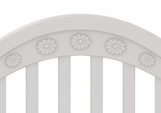 Детская кроватка на колесах Джозеппе (белый)-1
