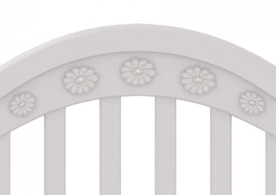 Детская кроватка на колесах Джозеппе (махагон)-1
