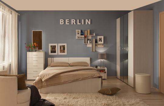 Спальня BERLIN (Бодега светлый)-1