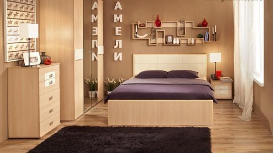 Спальня Амели (Дуб Отбеленый)-1