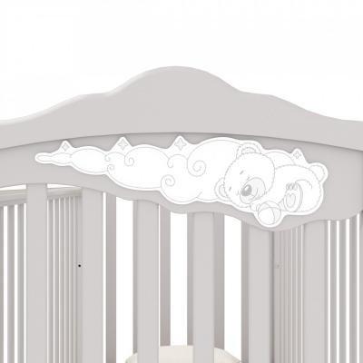 Детская кроватка-качалка Angela Bella Изабель (белый)-1