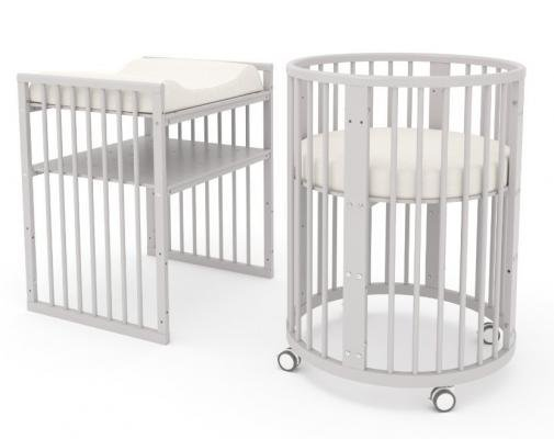 Детская кровать-трансформер Бэтти (белая ночь)-9