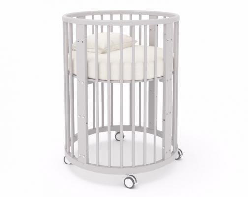 Детская кровать-трансформер Бэтти (выбеленный бук)-1
