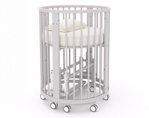 Детская кровать-трансформер Бэтти (выбеленный бук)-2