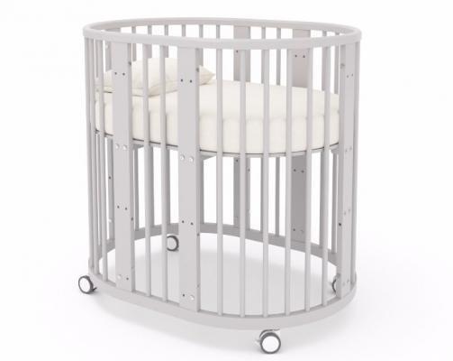 Детская кровать-трансформер Бэтти (выбеленный бук)-3