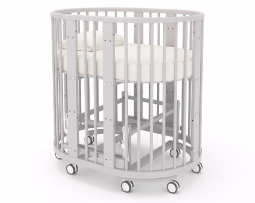 Детская кровать-трансформер Бэтти (выбеленный бук)-4