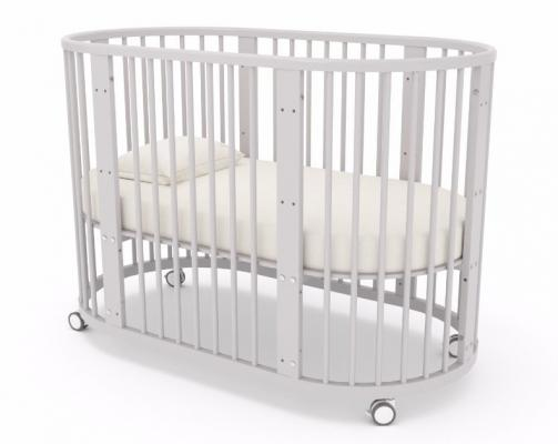 Детская кровать-трансформер Бэтти (выбеленный бук)-5