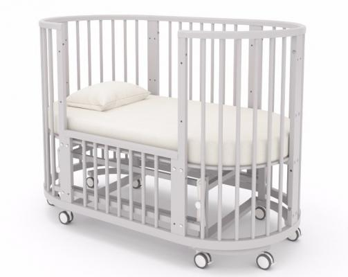 Детская кровать-трансформер Бэтти (выбеленный бук)-6
