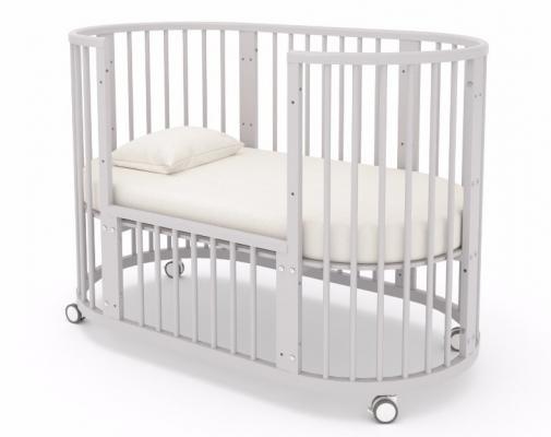 Детская кровать-трансформер Бэтти (выбеленный бук)-7