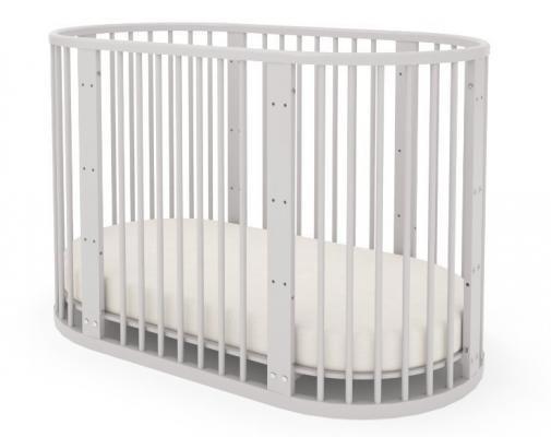 Детская кровать-трансформер Бэтти (выбеленный бук)-8