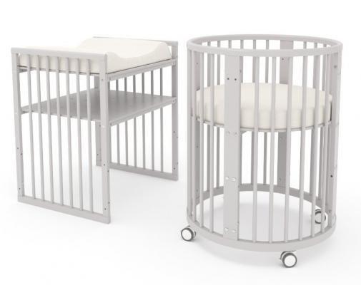 Детская кровать-трансформер Бэтти (выбеленный бук)-9