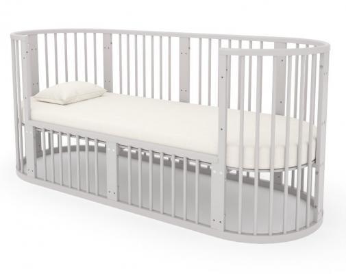 Детская кровать-трансформер Бэтти (выбеленный бук)-11