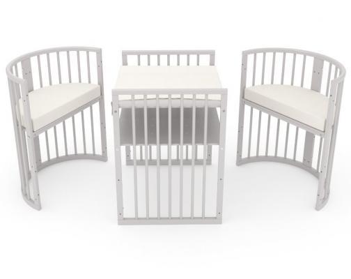 Детская кровать-трансформер Бэтти (слоновая кость)-12
