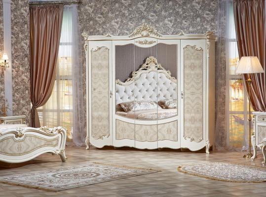 Спальня Констанция (крем) с 5-ти дверным шкафом-11
