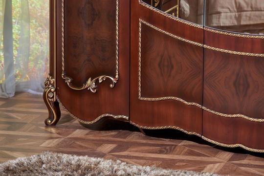 Спальня Констанция (темный орех) с 5-ти дверным шкафом-13