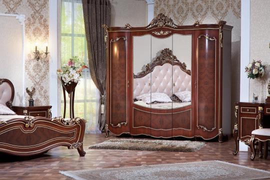 Спальня Констанция (темный орех) с 5-ти дверным шкафом-12