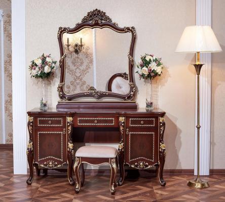 Спальня Констанция (темный орех) с 5-ти дверным шкафом-11