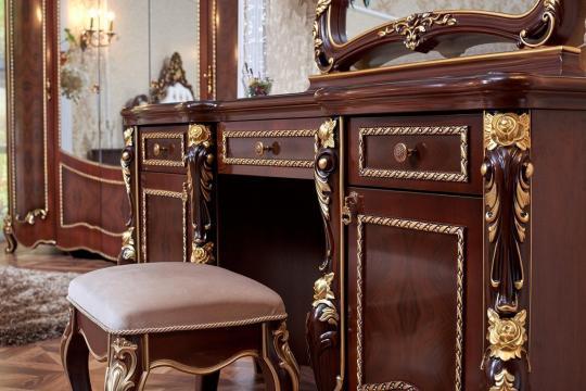 Спальня Констанция (темный орех) с 5-ти дверным шкафом-6