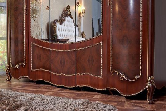 Спальня Констанция (темный орех) с 5-ти дверным шкафом-2