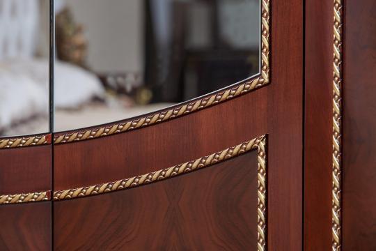 Спальня Констанция (темный орех) с 5-ти дверным шкафом-16