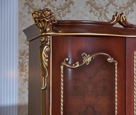 Спальня Констанция (темный орех) с 5-ти дверным шкафом-18