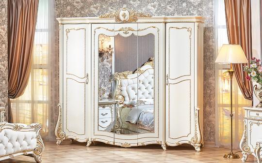 Спальня Монреаль (крем) с 5-ти дверным шкафом-7