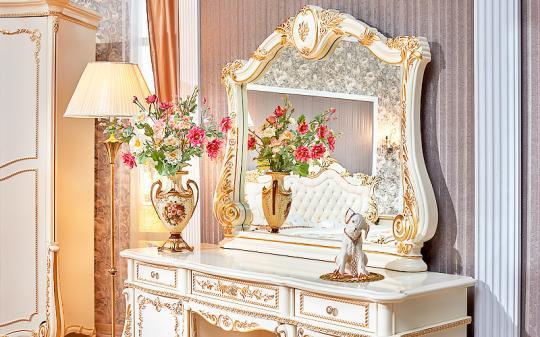 Спальня Монреаль (крем) с 5-ти дверным шкафом-5