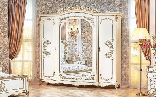 Спальня Фиона (крем) с 5-ти дверным шкафом-7