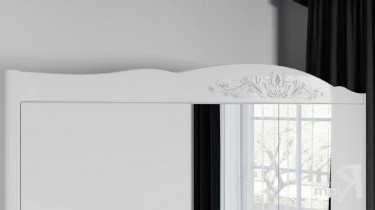 Спальня «Аврора» (Белый глянец)-2
