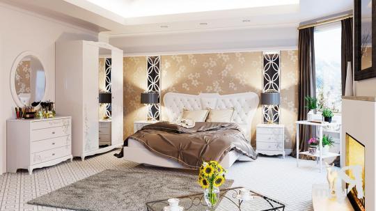 Спальня «Аврора» (Белый глянец)-5